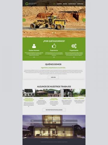 Diseño web Constructora Guerrero y Cia S en C