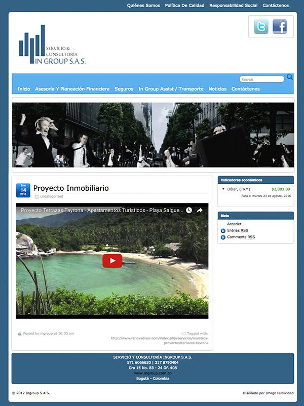 Diseño web Ingroup SAS